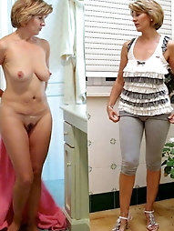 Grannies and matures, (Dressed and then undressed comparison)