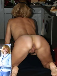Flexible mature lass is baring it all on picture