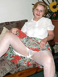 Naughty grannies flashing their knickers 3