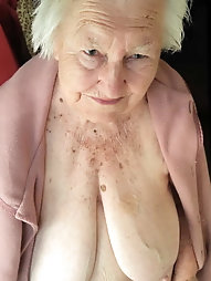 Very old granny with lovely  big tits