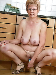 Feisty older housewives seem exposed