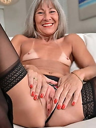 Experienced grandmother is giving blowjob