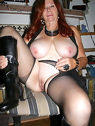 Fiery aged MILF seems excited