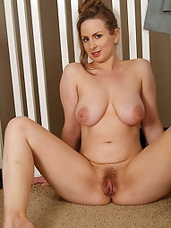 Fantastical mature dame is covered with sperm