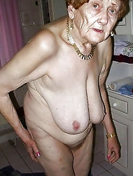 Elderly grandmothers or senior woman naked or non bare pictures.