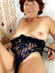 Mature mademoiselle with massive hooters