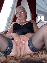 Sexy Grandma Legs, Spread and Ready to be Fuck 5