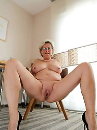 Adored mature grandmother with giant hooters